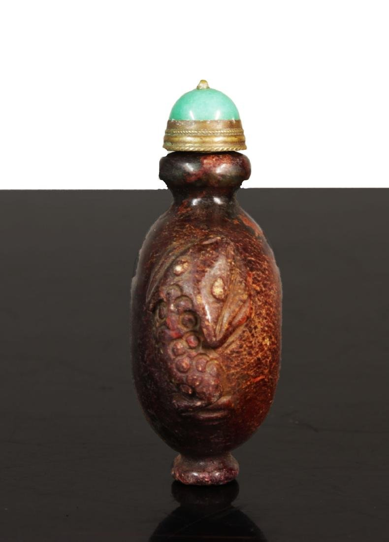 Antique chinese Jade snuff bottle. Qing Dynasty. - 4