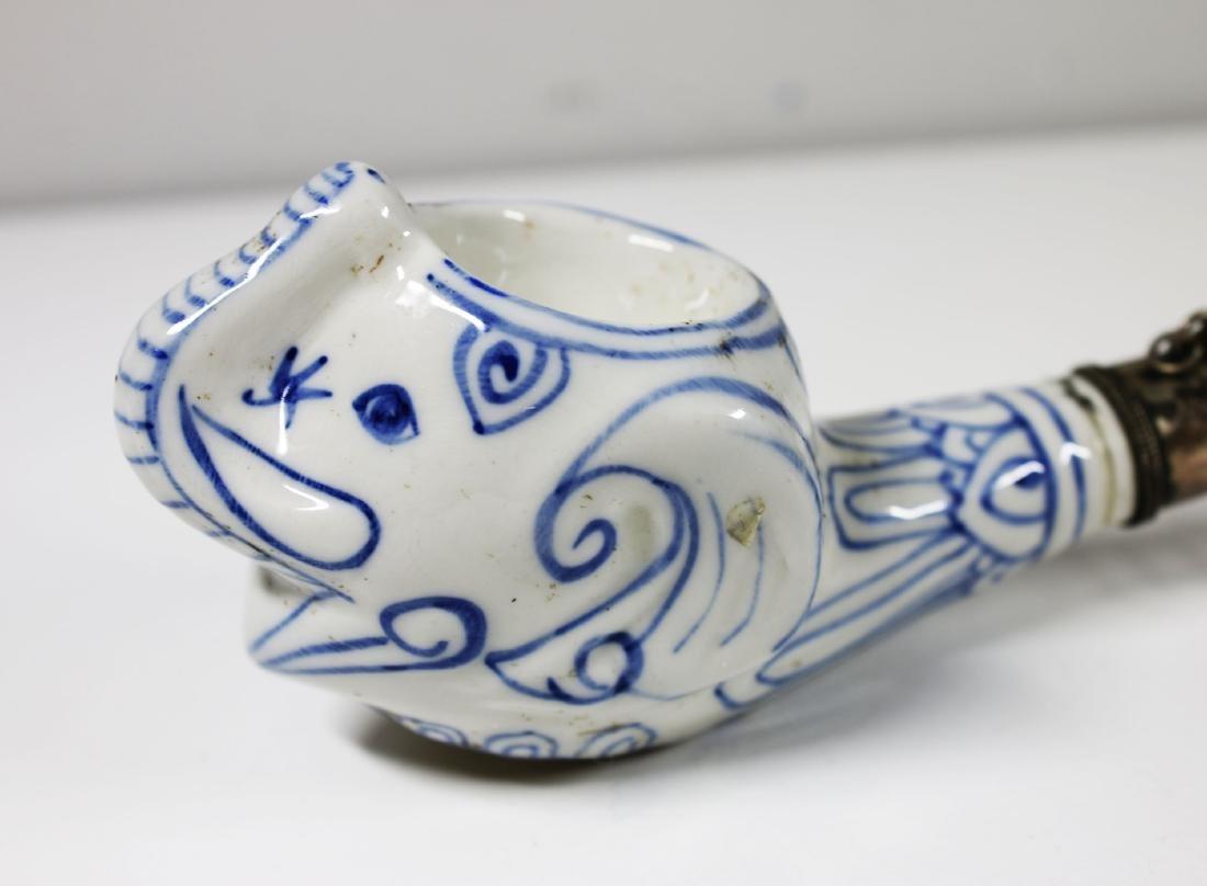 China Shanxi Opium porcelain pipe 1920/1930 AD 38 cm - 4