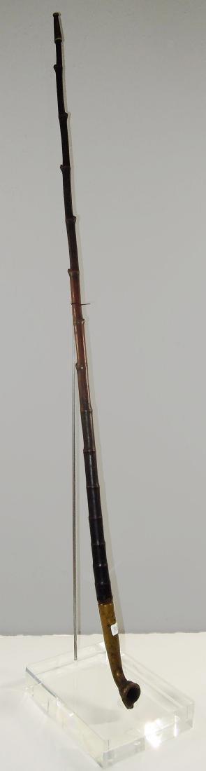 China Shanxi 1880 AD Ancient long pipe brass&Bamboo