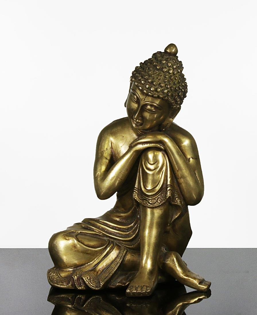 Tibet 1950 AD Sakyamuni Buddha Bronze statue 3 kg -