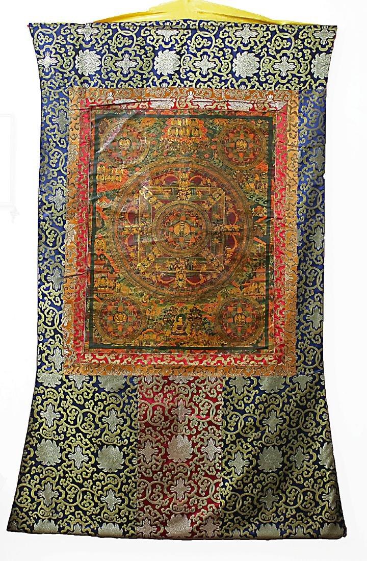 Tibet Handmade Old Mandala-Thangka Mahakala  150x100