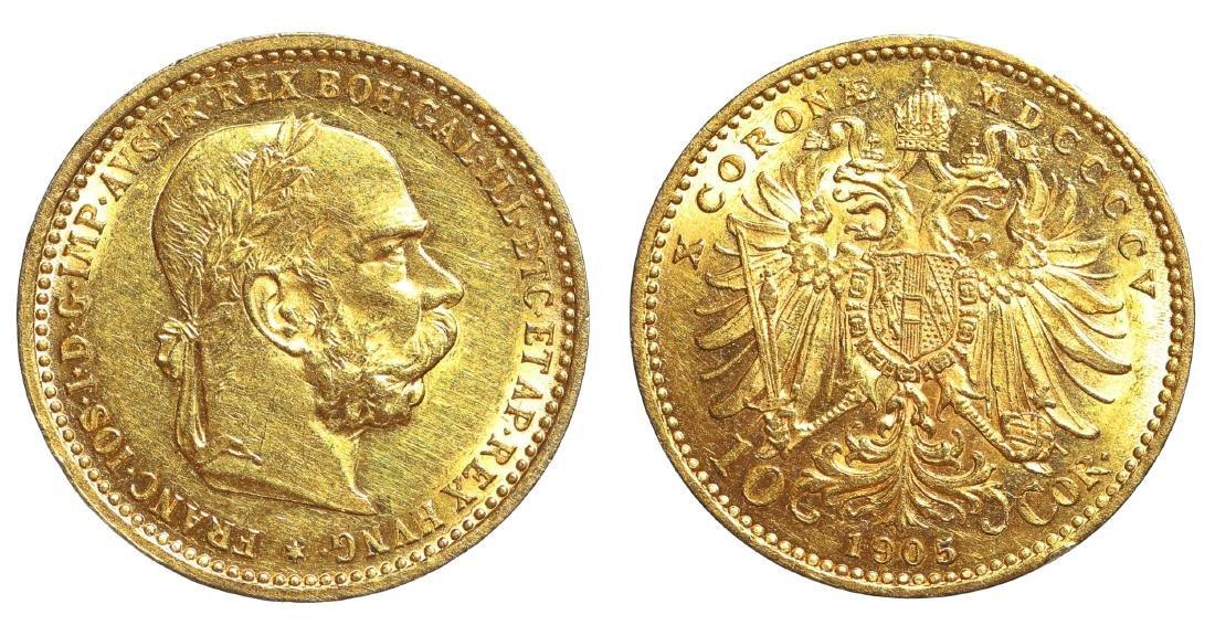 Franz Joseph 10 Korona 1905. AU