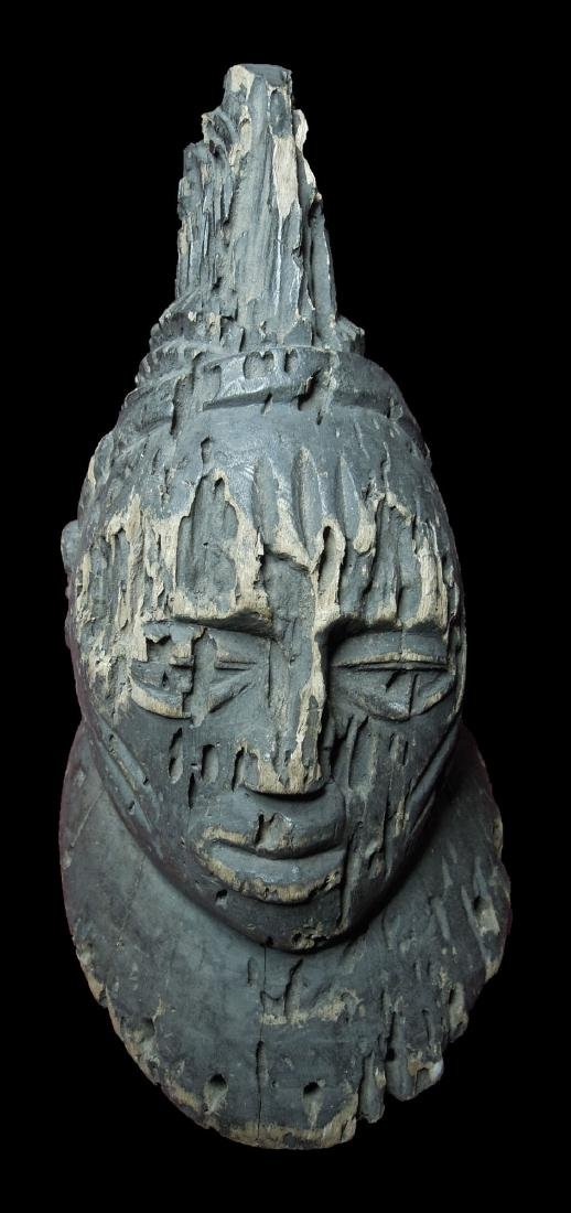 MALI SENUFO TRIBE WOODEN MALE HEAD EARLY 1900 39 cm