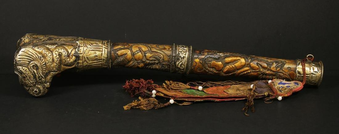 Tibet 1940/1950 AD Handmade femor bone Kangling 27,5 cm - 2
