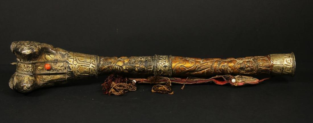 Tibet 1940/1950 AD Handmade femor bone Kangling 27,5 cm - 3