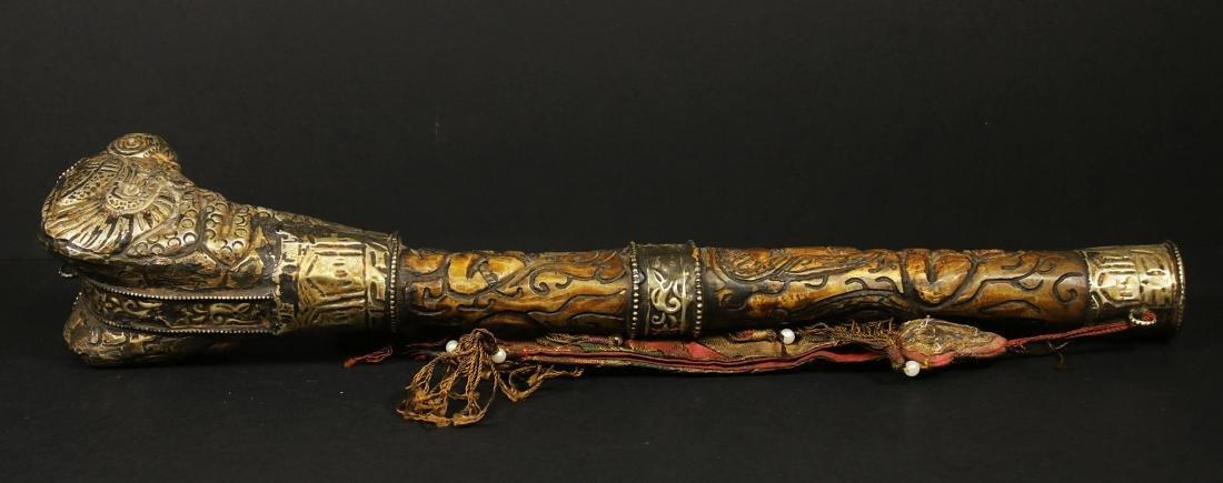 Tibet 1940/1950 AD Handmade femor bone Kangling 27,5 cm - 4