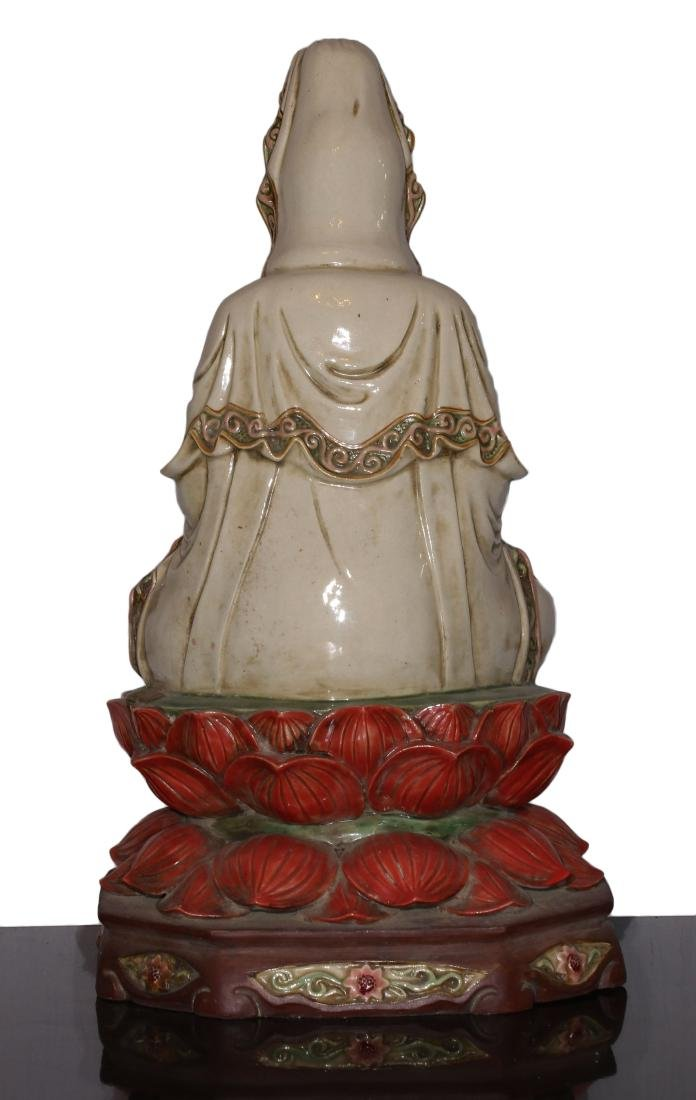 Porcelain staue of Buddha Qing dynasty - 3
