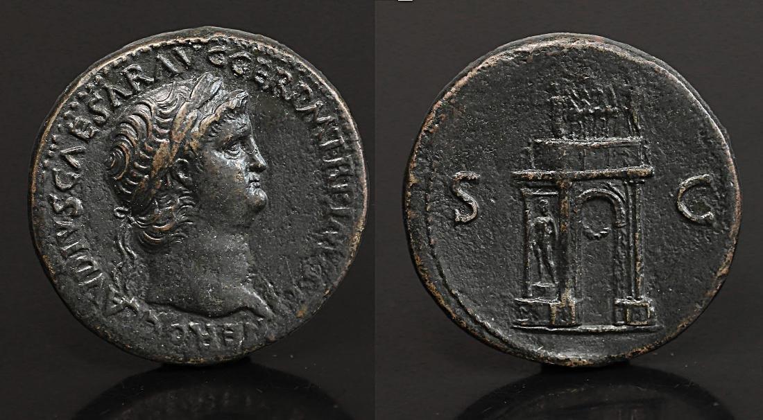 Nero Sestertius.64 AD Rare