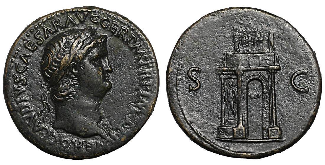 Nero Sestertius.64 AD Rare - 2
