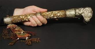 Tibet 1940/1950 AD Handmade femor bone Kangling 37,5 cm