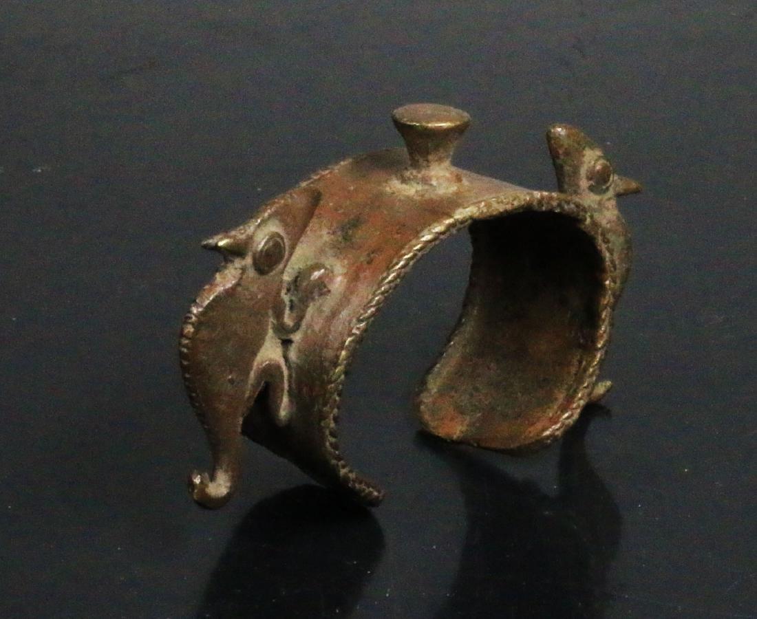 Nigeria. BENIN. Ceremonial Bronze Bracelet decorated