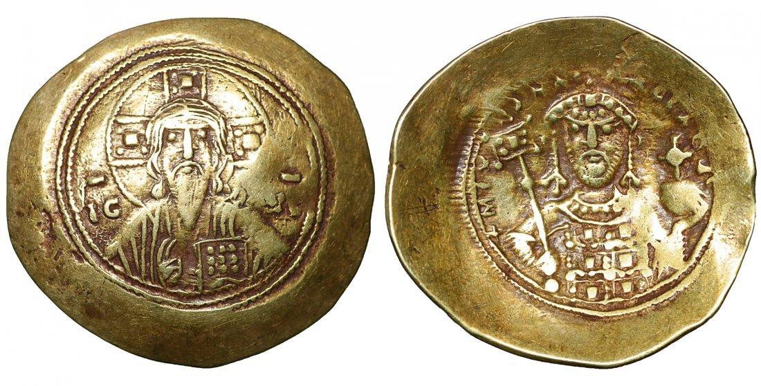 Michael VII Ducas, Gold Histamenon Nomisma (Scyphate).