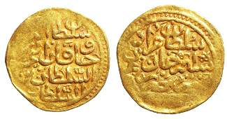 OTTOMAN EMPIRE Murad III 1574-1595 GOLD Sultani. Misr