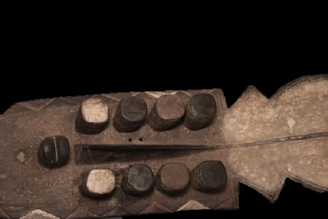 "RARE CARVED GREBO MASK 108cm 42"" GUEYE MUSTAPHA - 7"