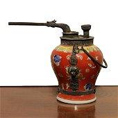 China Min Guo Period 1920 Porcelain water pipe.