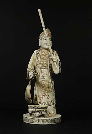 Image result for bone asian figurine fisherman in box