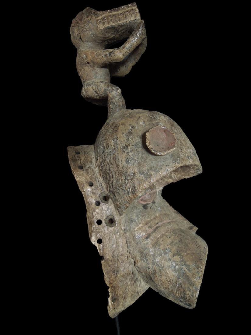 Mali. Dogon People Fine Wooden Carved mask 59x24 cm - 3