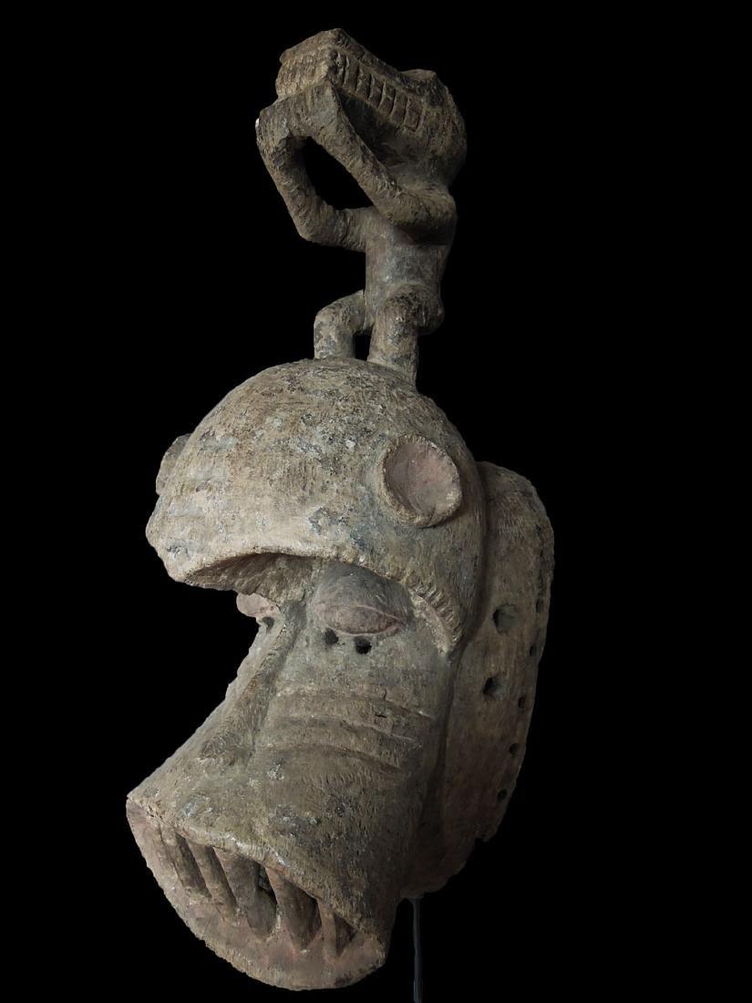 Mali. Dogon People Fine Wooden Carved mask 59x24 cm - 4