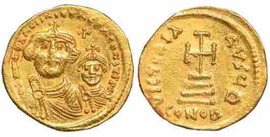 Heraclius with Heraclius Constantine Gold Solidus