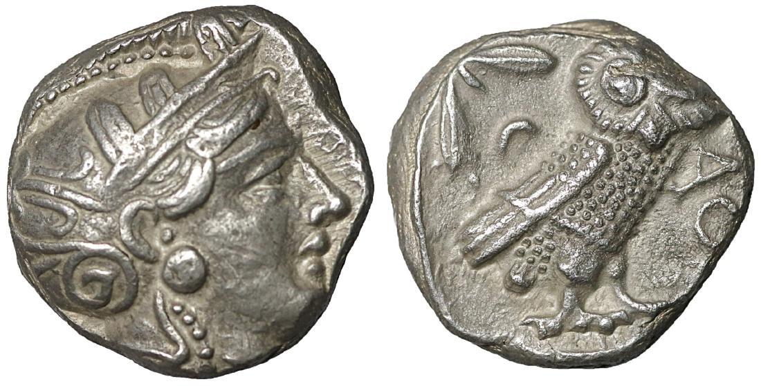 Attica Athens Tetradrachm 350-294 BC XF Ancient greek