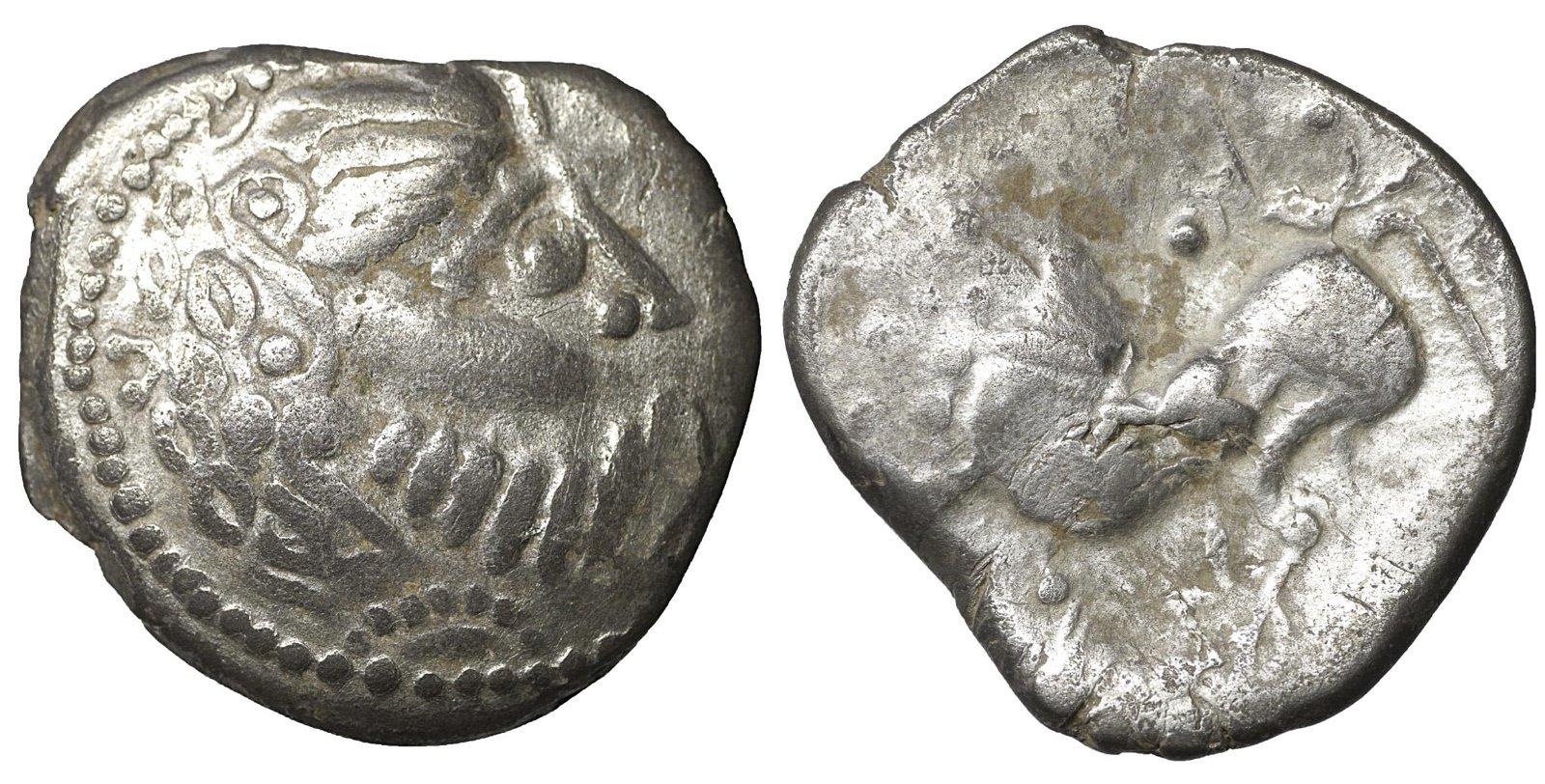 Eastern Celts Scordisci Tetradrachm VF+ Celtic Coin