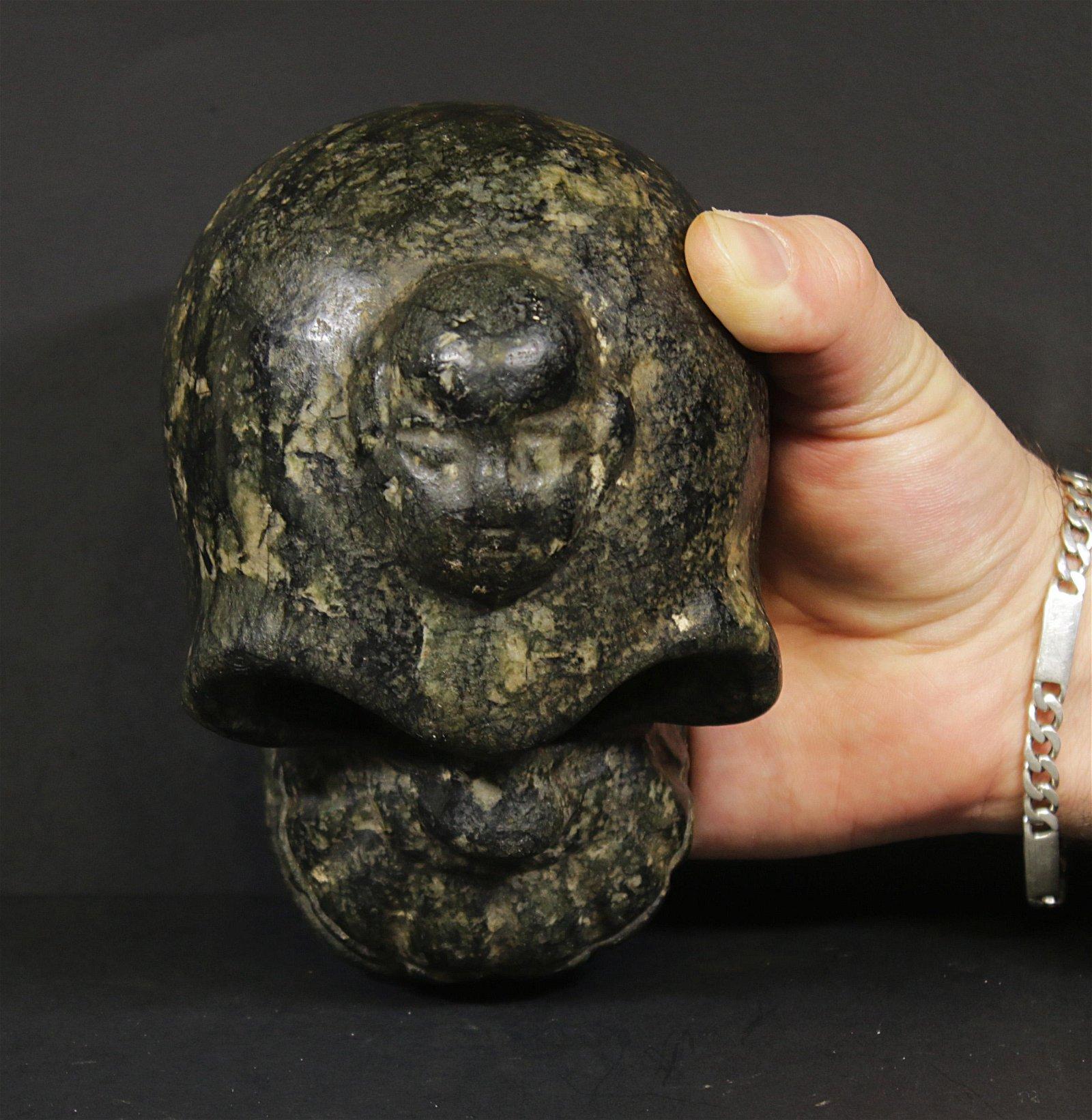 Tibet 1600 AD Rare Handcarved hardstone monkey skull