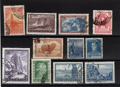 Argentina lot of 11 stamps