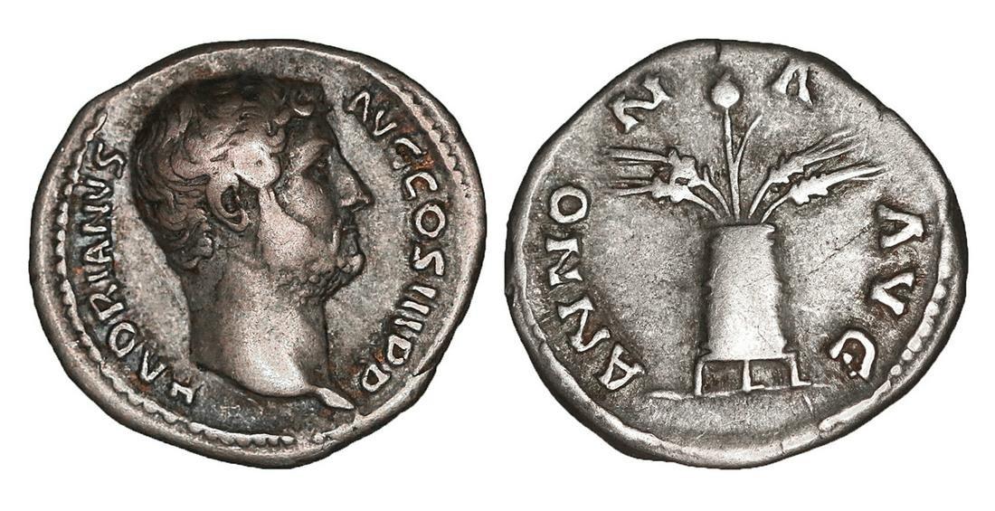 HADRIAN 117-138 Denarius Rome UNC Roman Coins
