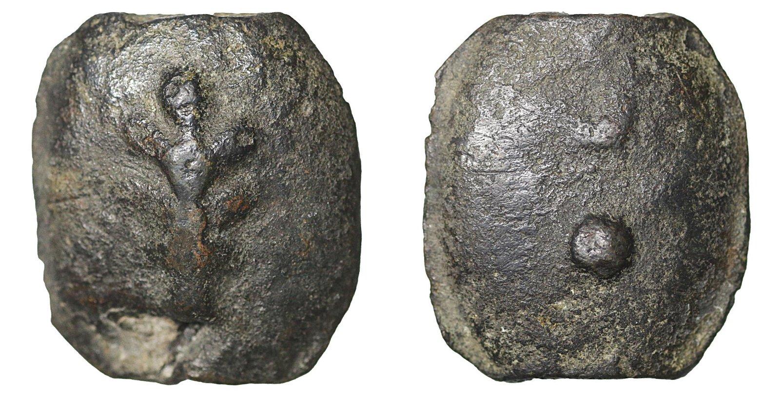 Umbria 225-213 BC Bronze Aes Grave Sextans Rare VF+