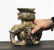 China Qing Dynasty 1850/1900 Heavy jade double elephant