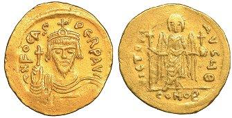 Phocas Gold Solidus 602-610 Byzantine Coin High Grade