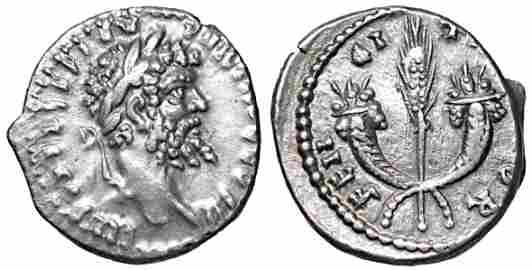 Septimius Severus Silver Denarius Rome 194-195 Roman