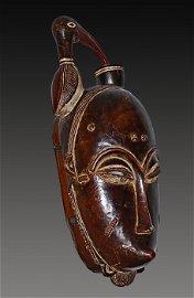 Ivory Coast Yaure people  Mask Bird on top 1970