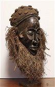 Angola. 1950 circa. Impressive Chokwe mask. 1,4 Kg. -