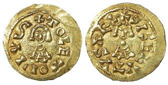Visigoths Spain Sisebut 612-621 Gold Tremissis