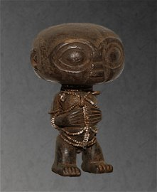 Cameroon. Rare Old Tribal Pygmy wooden Statue. 1950
