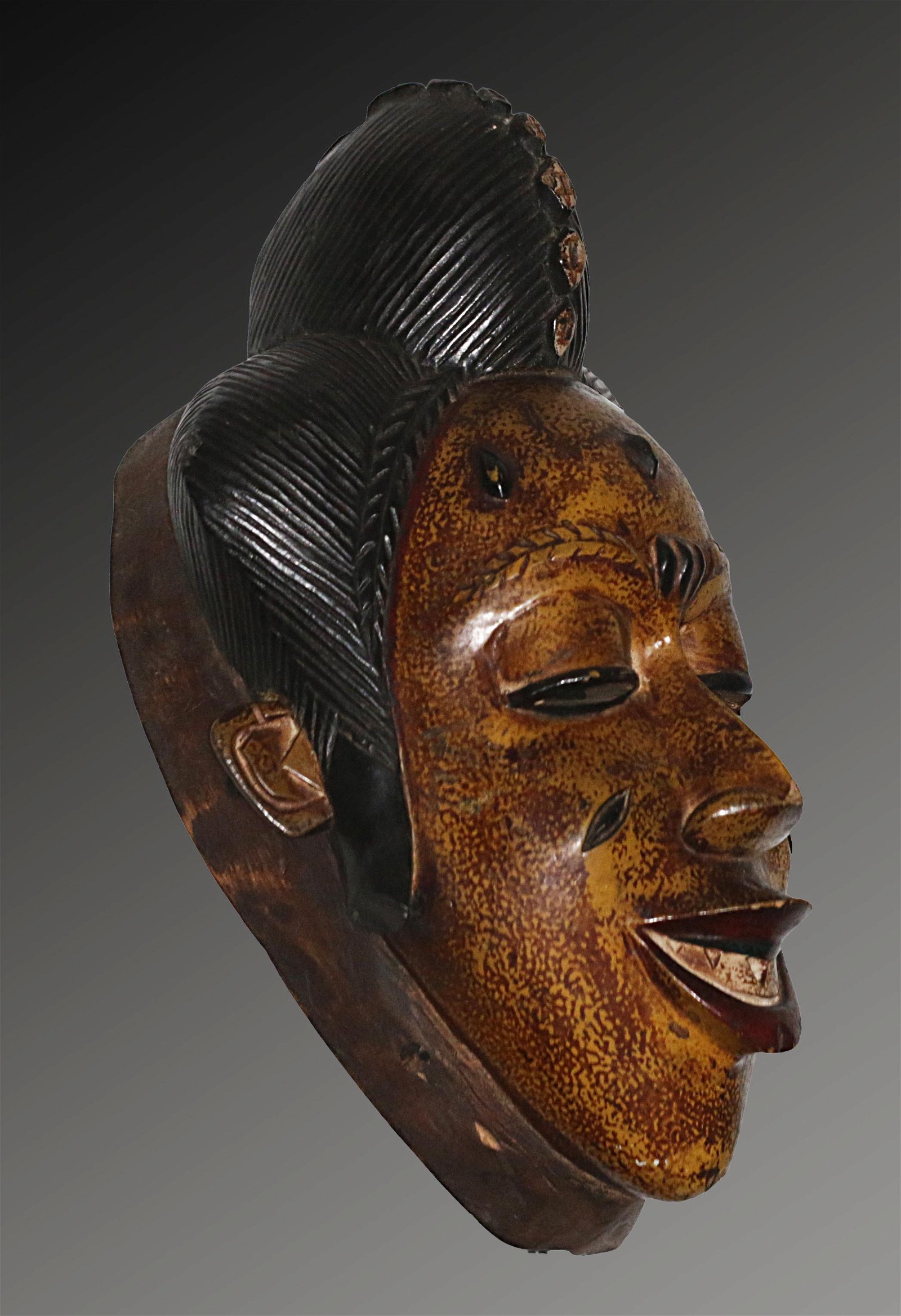 Ivory Coast Guro people Ceremonial mask; pronounced