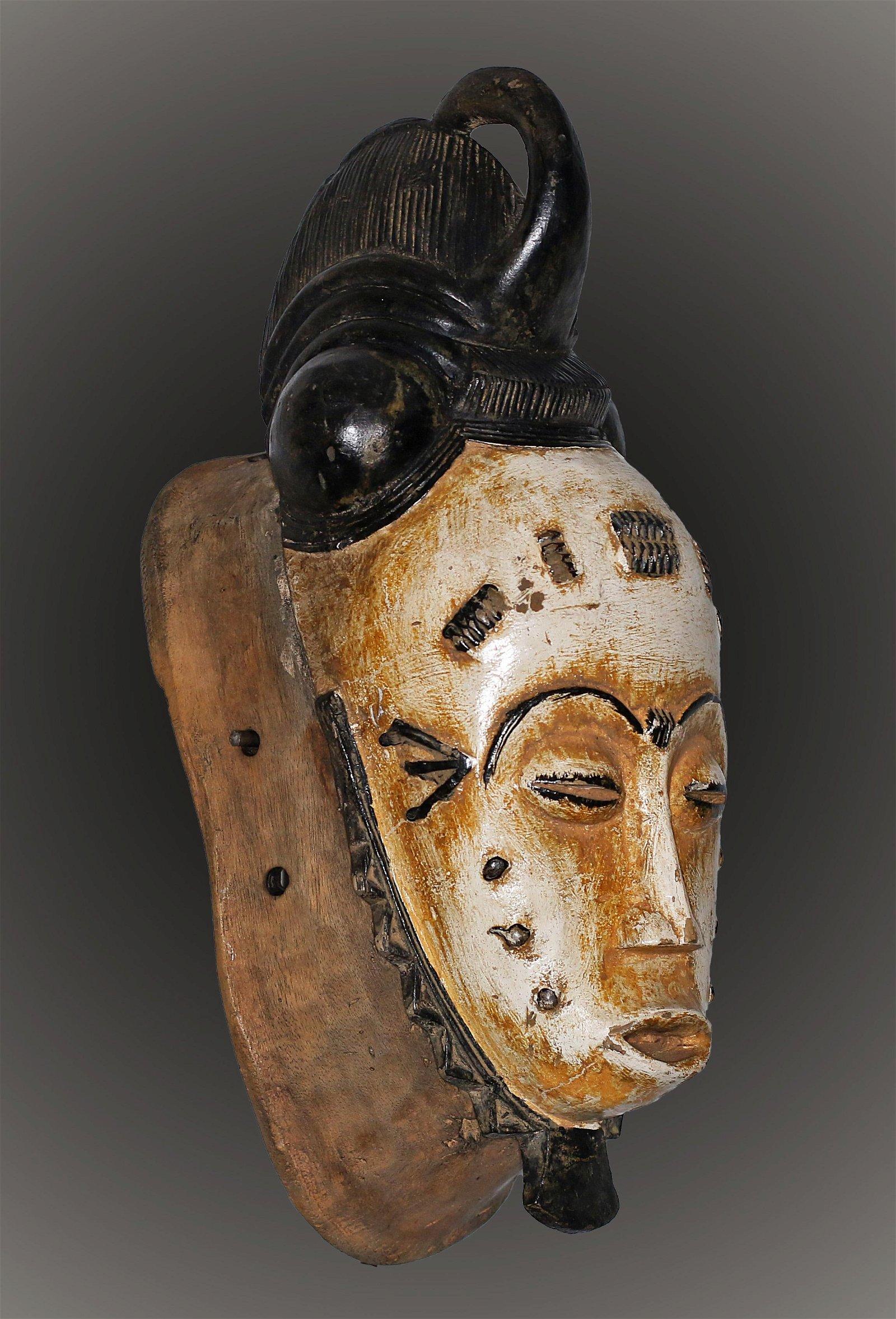 Gabon Punu people Old Ceremonial mask 1950