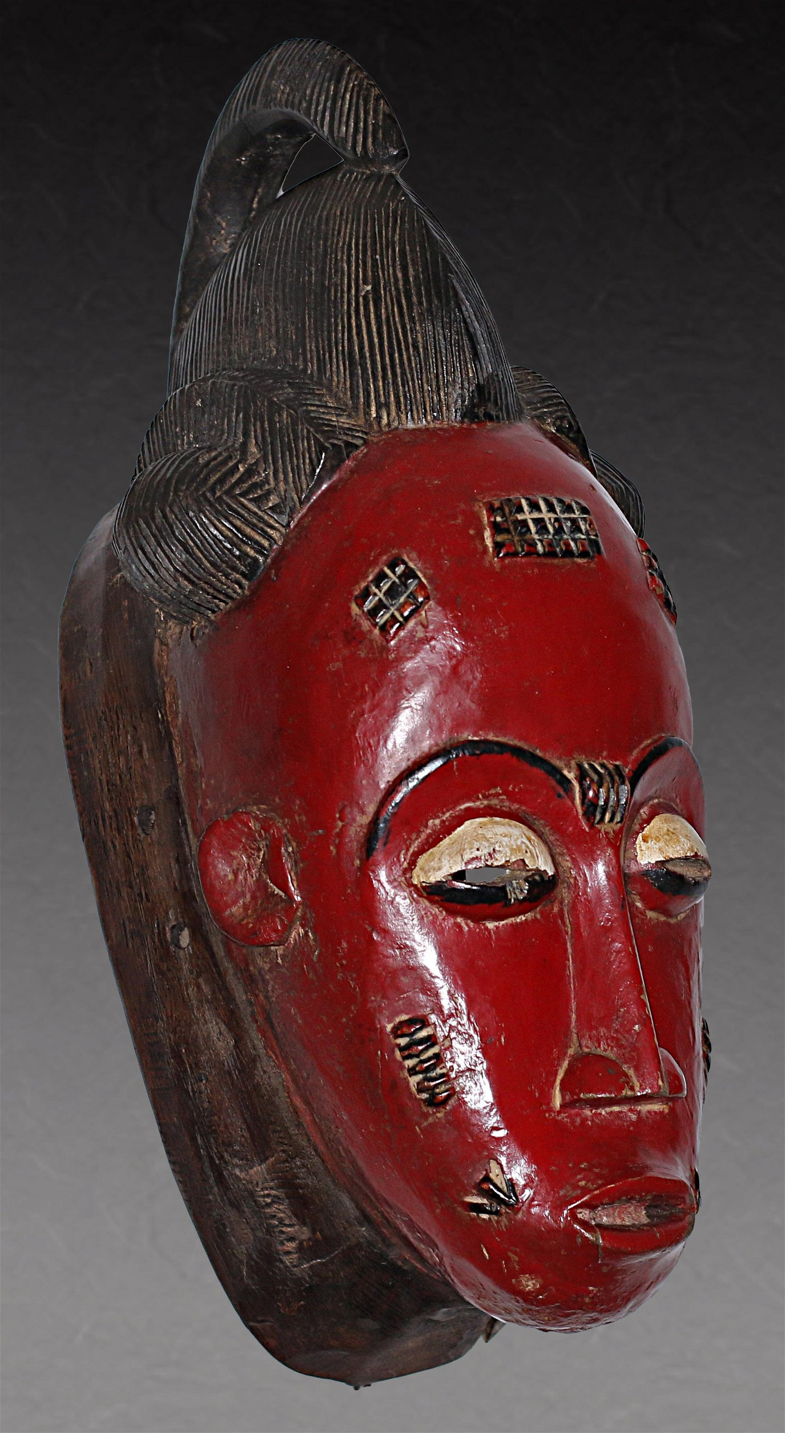 Ivory Coast Baule people Old Ceremonial mask 1950