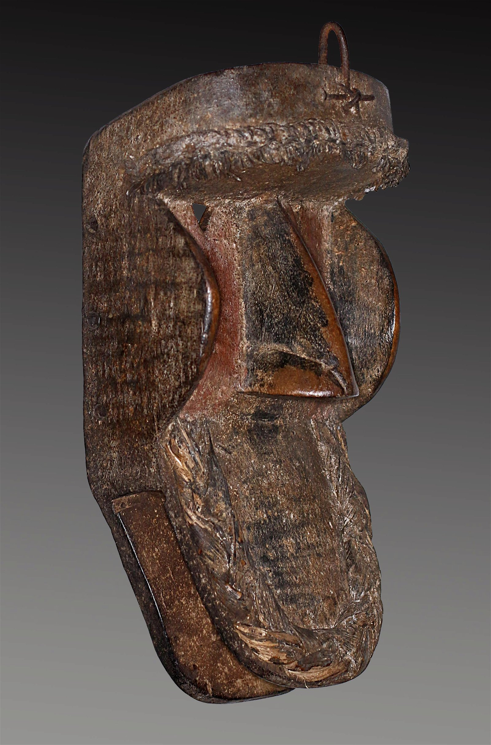 Old Liberia Khran Shaman Carved wooden Mask 32 cm 12,5