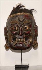 Tibet Impressive Mahakala ceremonial shaman mask 1970