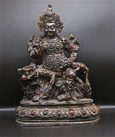 Tibet 1950 AD Exquisite bronze Buddha statue 2.5