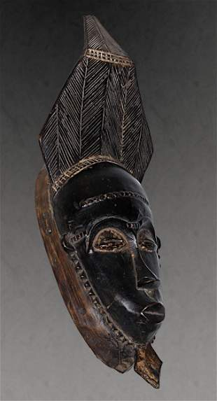 Ivory Coast Baule people Old Ceremonial mask 1970