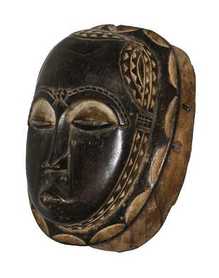 Ivory Coast Baule people Old Ceremonial mask Traces of