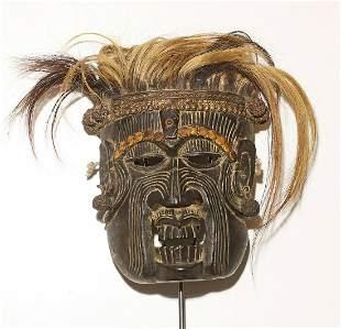 Tibet Himalayan tribes Mahakala ceremonial shaman mask