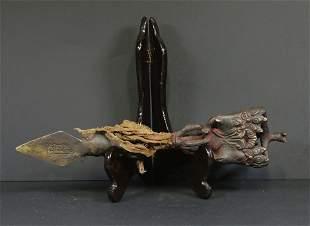 Tibet 1850 Bronze Ceremonial Phurba Ganapati 31 cm.