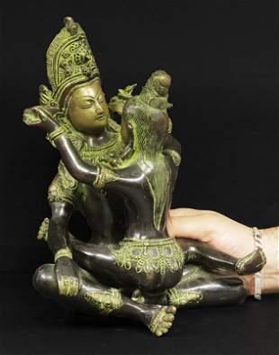 Tibet Heavy Samantabhadra Buddha bronze statue 1800 5,2