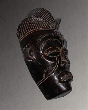 Angola. Chokwe people. Ceremonial Mask 1960 circa. 821