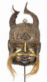 Tibet Himalayan tribes 1960 Shaman wooden mask 2