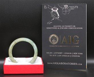 Natural Jadeite Bangle GRADE A certificated 247ct- 49gr
